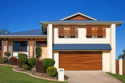 Great Accent Planks Garage Doors