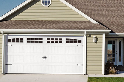 Residential Carriage House Stamped Garage Doors Athens GA